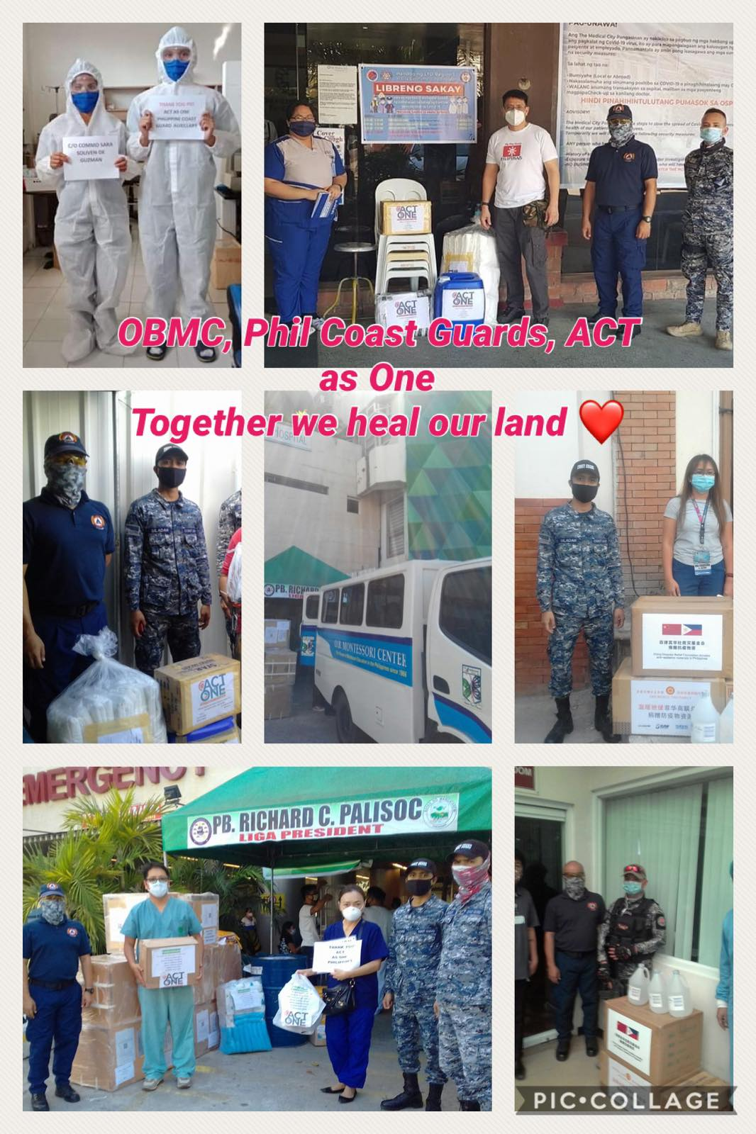 Operation Brotherhood in partnership with Philippine Coast Guard donate to provinces in northern Luzon