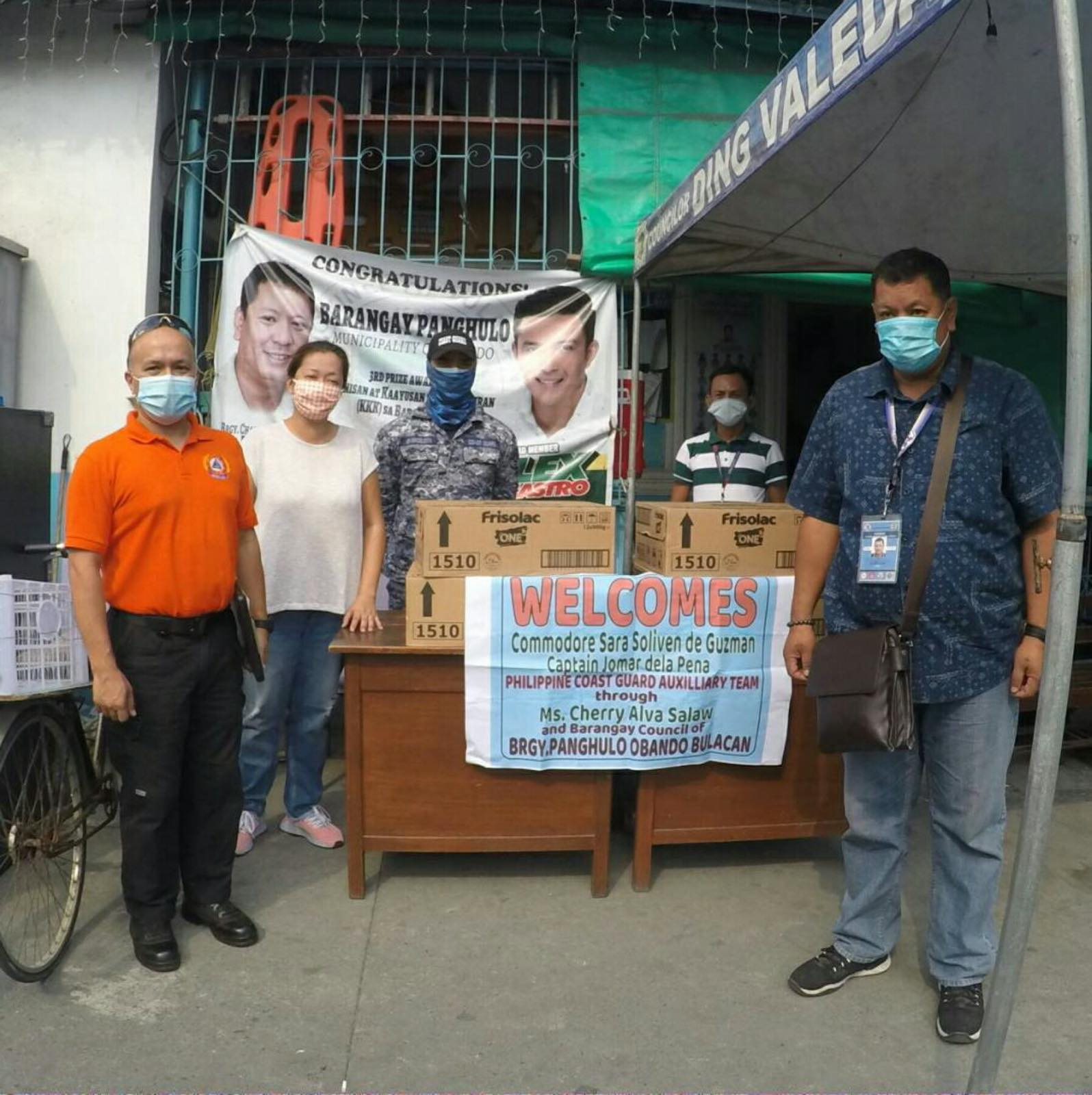 Operation Brotherhood, Philippine Coast Guard and Alaska donate milk boxes to different barangays in Bulacan
